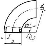 Отвод 219х12 стальной (ст 20)  ГОСТ 17375-01